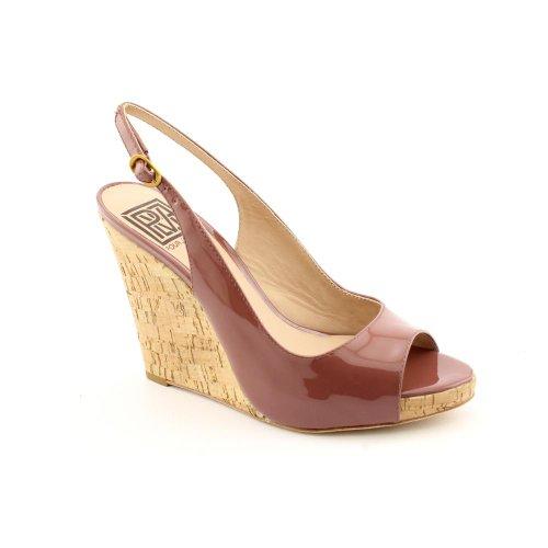 Pour La Victoire Catina New Open Toe Wedge Sandals Shoes Purple Womens