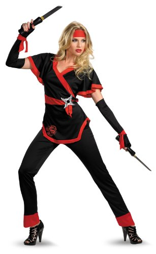 Disguise Women's Ninja Dragon Costume, Black/Red, Medium