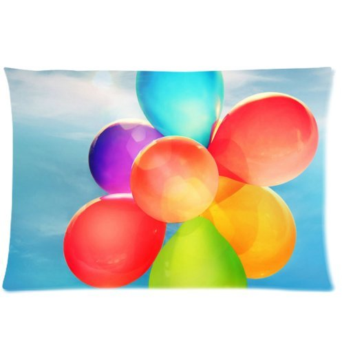 happy-shopping-go-custom-colorful-balloons-under-blue-sky-pillowcase-fundas-para-almohada-covers-sta