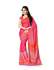 Vaamsi Chiffon Printed Saree (Rolex3108_Pink_6.3 M Length)