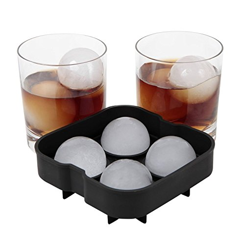 [Ice Balls Maker Round Sphere Tray Mold Cube Whiskey Ball Cocktails Silicone] (3 Ninjas Kick Back Costume)
