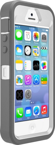 Great Sale OtterBox Defender Series Case for iPhone 5S - Retail Packaging - Gray/White