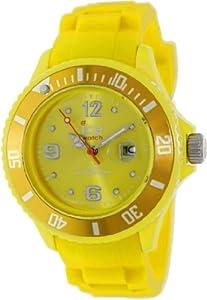 ICE-Watch - Montre Mixte - Quartz Analogique - Ice-Forever - Yellow - Small - Cadran Jaune - Bracelet Silicone Jaune - SI.YW.S.S.09