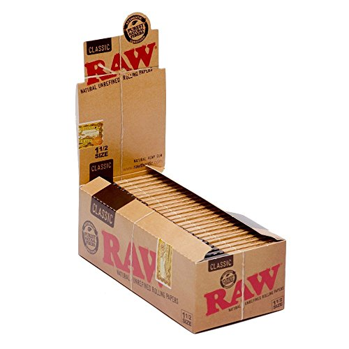 RAW-Classic-1-12-Size-Natural-Unrefined-Rolling-Papers-Box25-Packs