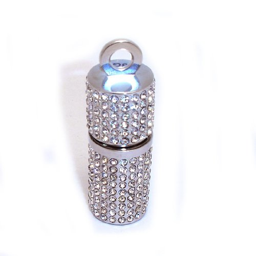 8GB Fashion Crystal Point Jewelry USB 2.0 Flash Memory Pen Drive Pendant for Necklace
