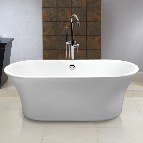 1590mm CONTEMPORARY FREESTANDING ROLL TOP BATH