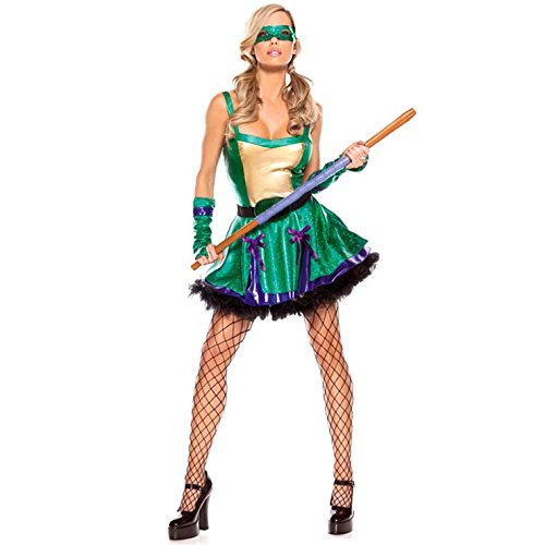 Sexy Green Ninja Turtle Costume - Medium Size