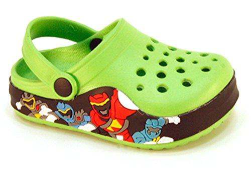 Kids Baby Little Kids Boys Toddler Power Rangers Clog Summer Shoes (Toddler 11, Green)