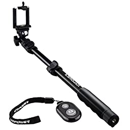 Selfie Stick,Professional Handheld Durable Extendable Yunteng Monopod with URPOWER Bluetooth Remote Control for iPhone 6 Plus 6S 6 5S, Samsung Galaxy Note 5 S6 Edge S6 S5 S4, Gopro Hero Cameras