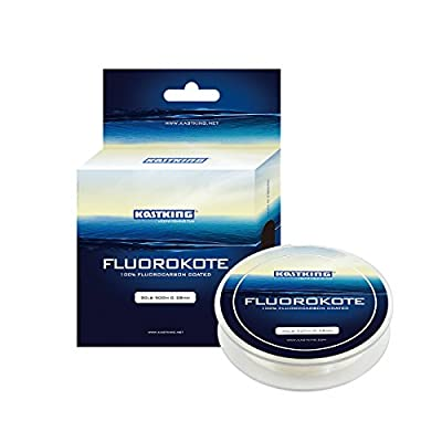 KastKing FluoroKote Fishing Line - 100% Pure Fluorocarbon Coated - 300Yds/274M Premium Spool - Upgrade from Mono and Perfect Substitute for Solid Fluorocarbon Line - 2015 ICAST Award Winning Brand [2016 New Release Sale] from Eposeidon