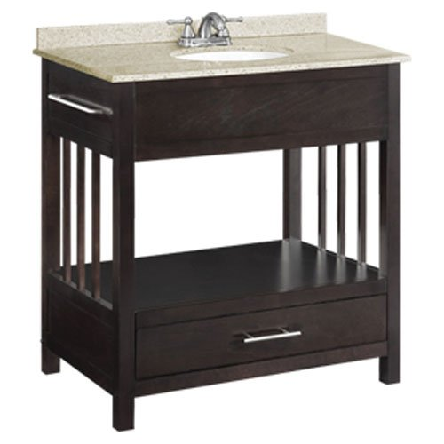 Design House 541516 30-Inch by 21-Inch Ventura Console Ready-to-Assemble Vanity, Espresso
