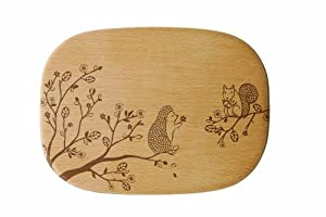 Talisman Designs Get Real Squirrel Solid Beechwood Cheese Board, Woodland Design