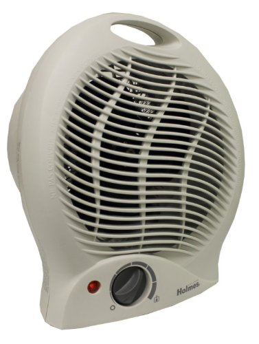 New HOLMES HFH113 Electric Fan Forced Heater Thermostat Personal Portable White