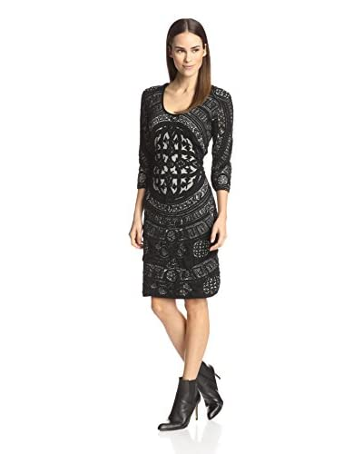 Desigual Women's Knit Combo Dress  [Black]