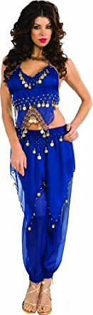Rubie's Costume Deluxe Embellished Belly Dancer, Blue, Small Costume