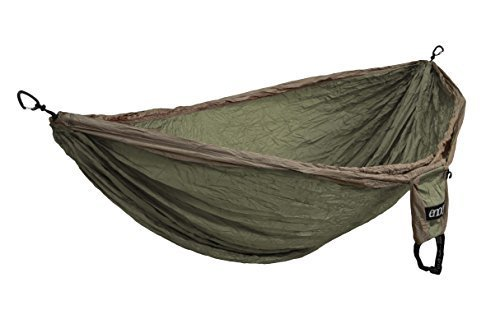 Eagles Nest Outfitters Double Deluxe Hammock, Khaki/Olive by Eagles Nest Outfitters
