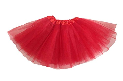 Girls Ballet Tutu Red - 1