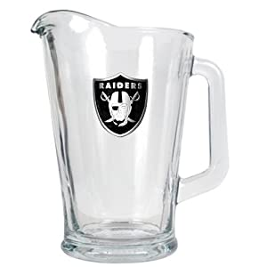 NFL Oakland Raiders 60-Ounce Glass Pitcher - Primary Logo by Great American Products