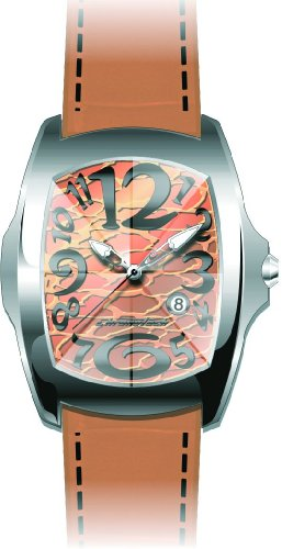 Chronotech Mens Watch CT7896M/20 'Prisma Revolution' with Orange Leather Strap