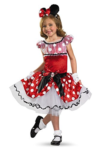 Disney Minnie Mouse Red Tutu Prestige Halloween Costume Girls Size Small 4-6