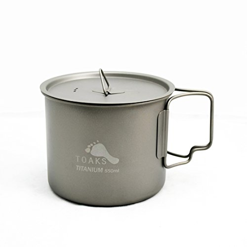 TOAKS Titanium 550ml Pot (New Version) (Titanium Pot Backpacking compare prices)