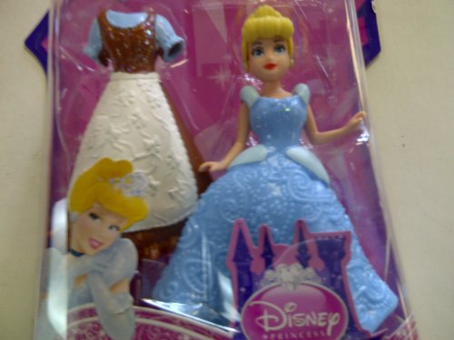 "MATTEL DISNEY PRINCESS Little Kingdom ""CINDERELLA"" Doll With Dress 3.5"" Tall Doll"
