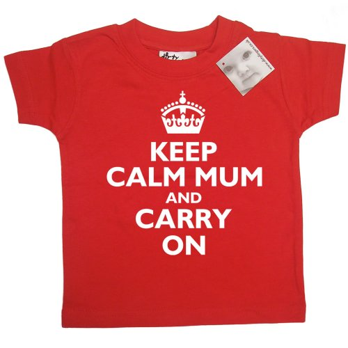 Dirty Fingers - Keep Calm Mum and Carry On - Baby & Toddler T-shirt 18-24 months, Red