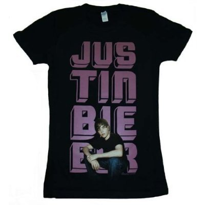 to Walmart, and i saw that they were selling Justin Bieber T-shirts!