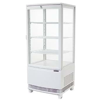 レマコム 4面ガラス 冷蔵ショーケース(ショーケース 冷蔵庫)【前開きタイプ 84リットル】幅425×奥行412×高さ987(mm) RCS-4G84S