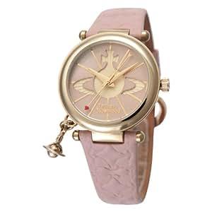 [ヴィヴィアンウエストウッド]Vivienne Westwood 腕時計 オーブ シルバー ピンクレザー クォーツ レディース VV006PKPK レディース 【並行輸入品】