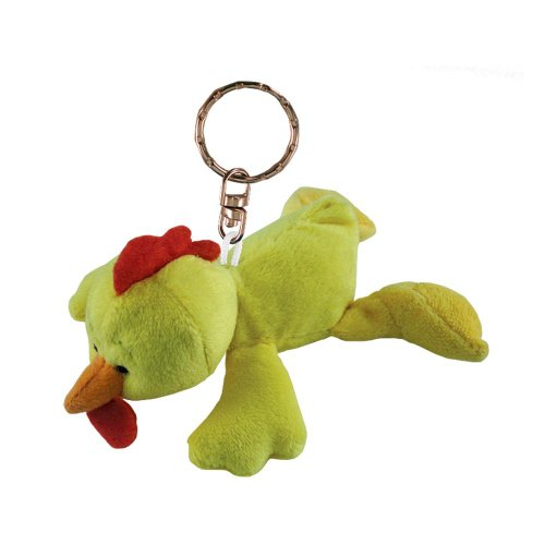 Puzzled Rooster Plush Keychain
