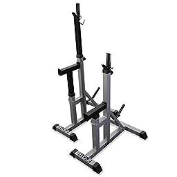 Valor Fitness BD-2 Independent Bench Press Stands, Pewter