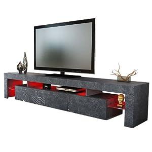TV Board Lowboard Lima V2 Rock in Schieferoptik