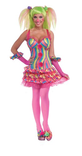 Forum Circus Sweeties Tootsie The Clown Dress Costume