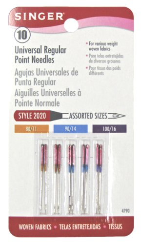 Why Should You Buy Singer 10-Pack Regular Point Machine Needles Assorted, 4 Size 80/11, 4 Size 90/14...
