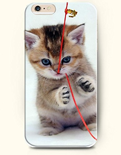 Iphone 6 Plus Case 5.5 Inches Cat Biting The Red String - Hard Back Plastic Case Oofit Authentic front-345220