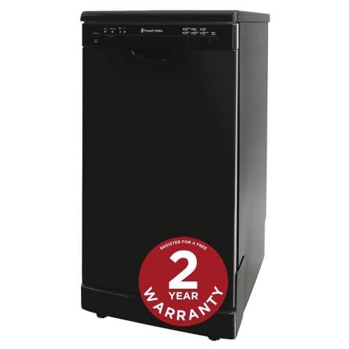 Russell Hobbs Black Freestanding Slimline 45cm Wide Dishwasher RHSLDW2B - Free 2 Year Warranty*