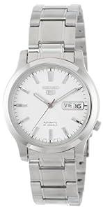 Seiko Men's SNK789 Seiko 5 Automatic White Dial Stainless-Steel Bracelet Watch