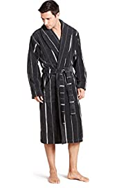 Luxury Pure Cotton Shawl Collar Dressing Gown