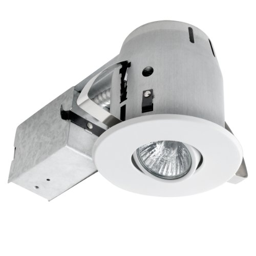 90440 4 inch recessed lighting kit swivel white finish spot light