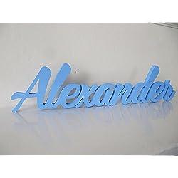 Mia Workshop Namensschild / Türschild, individuell gestaltete Türschilder, Dekoration für Kinderzimmer, personalisierte Geschenke