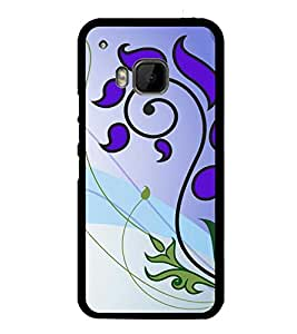 printtech Ethnic Flower Pattern Back Case Cover for HTC One Hima