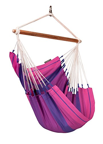 La Siesta Orquidea High Comfort And Rip Proof Hammock Chair With Spreader Bars, Purple