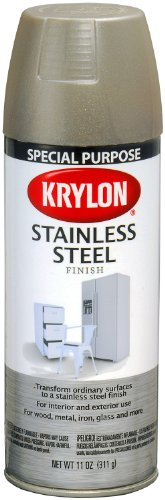 Krylon K02400000 Stainless Steel Finish Aerosol Spray Paint, 11-Ounce, Stainless Steel (Looking Glass Spray compare prices)