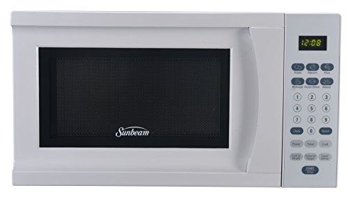 Sunbeam SGS90701W-B 0.7-Cubic Foot Microwave Oven, White (Small White Microwave Oven compare prices)