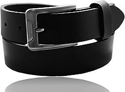 EURO Kids Premium Leather Belt - BK085 - Black - Medium