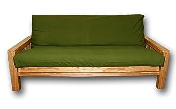 Sofá cama Bifold 140x200cm verde