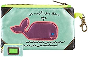 Natural Life Vegan Leather ID Pouch Bag Whale GoFlow