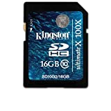 Kingston SD10G2/16GB Ultimate X SDHC Flash Card - 16 GB, Class 10