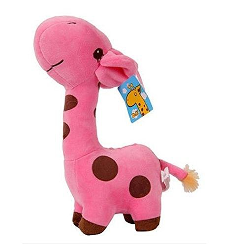 Lovely Kids Lovely Soft Dolls Giraffe Animal Plush Play Toy For Baby Kid Birthday Gifts -Ld//High: 25Cm (Pink) front-956936